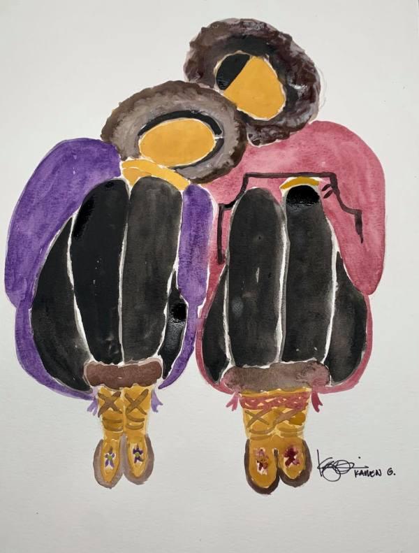 """LOVE BIRDS"" by ALASKAN WATERCOLORS BY KAREN"