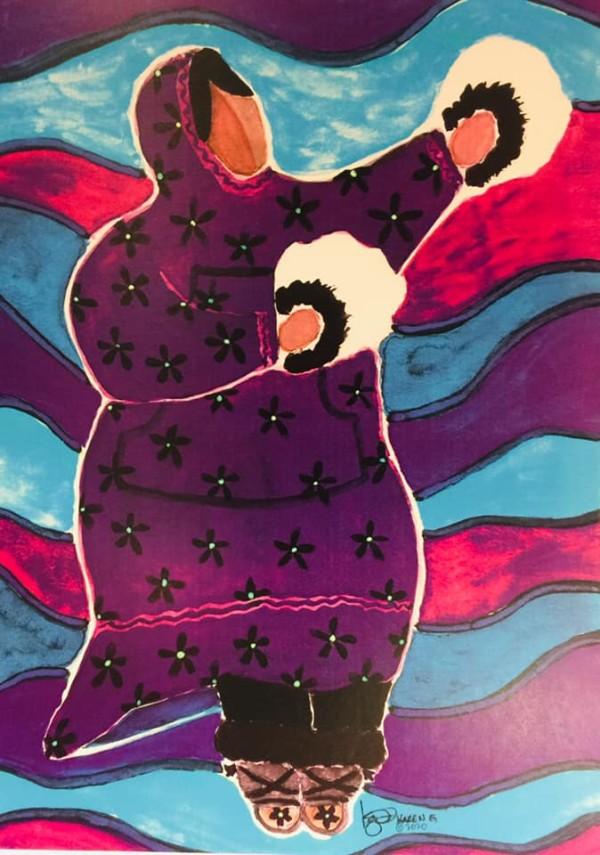 STORYTELLER - FEMALE by ALASKAN WATERCOLORS BY KAREN