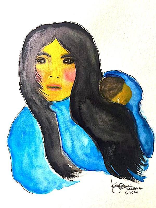 """""""Big Sister"""" by ALASKAN WATERCOLORS BY KAREN"""