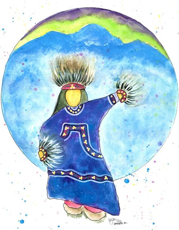 AURORA DANCER by ALASKAN WATERCOLORS BY KAREN