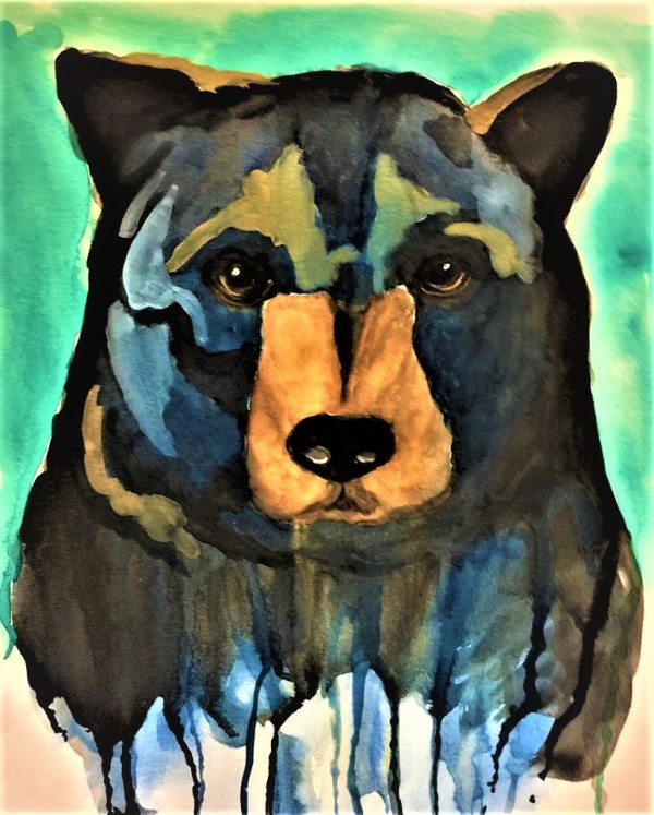 BLACK BEAR by ALASKAN WATERCOLORS BY KAREN