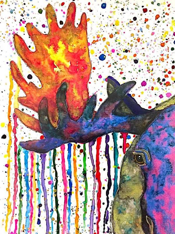 """BULLSEYE"" by ALASKAN WATERCOLORS BY KAREN"