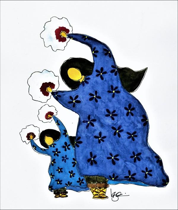JUST LIKE MAMA by ALASKAN WATERCOLORS BY KAREN