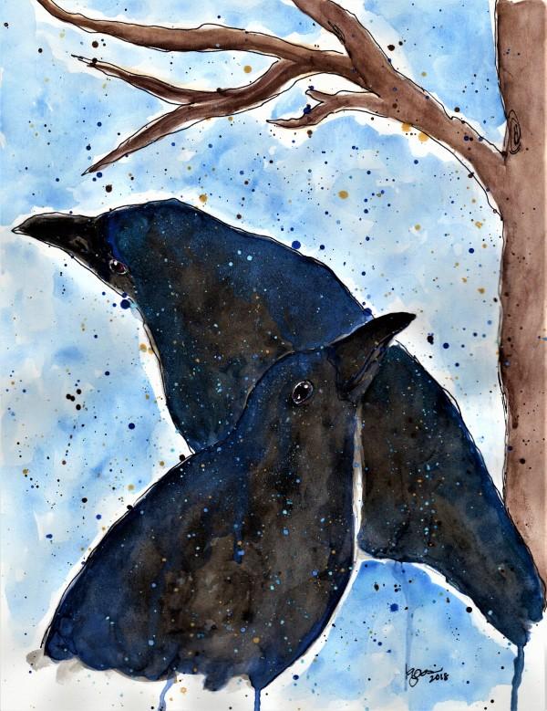 RAVEN LOVE by ALASKAN WATERCOLORS BY KAREN