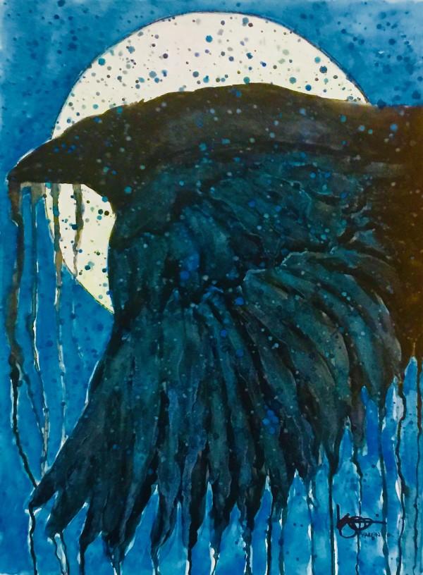 NIGHT TRAVELER by ALASKAN WATERCOLORS BY KAREN