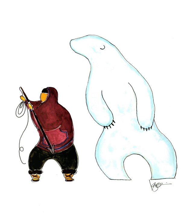 I SMELL A BEAR by ALASKAN WATERCOLORS BY KAREN