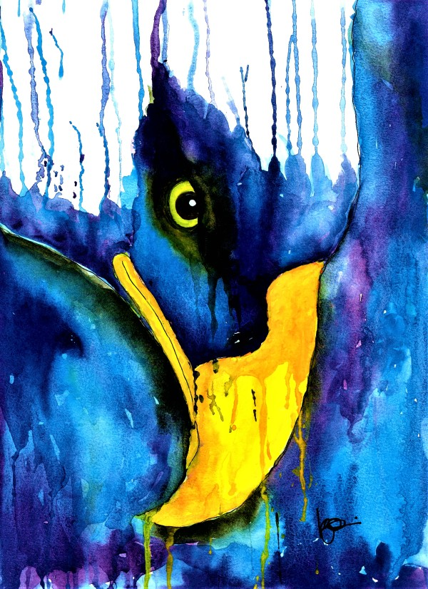 THE WATCHFUL ONE by ALASKAN WATERCOLORS BY KAREN