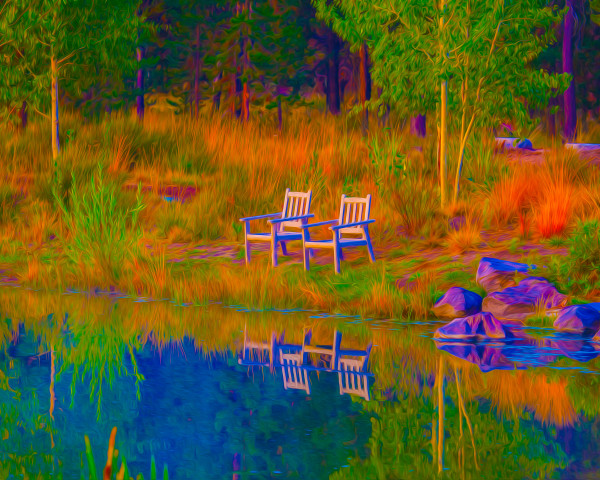 Sunriver Solitude by teak elmore