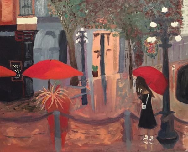 The Red Umbrella by Glenda King