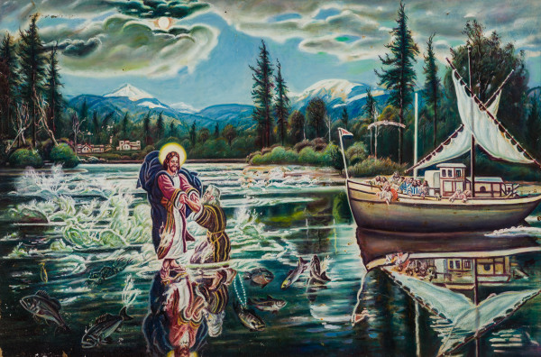 Jesus and Peter Walking on Water by McKendree Robbins Long