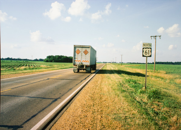 Highway 61, Mississippi Delta, Mississippi, 1976 by William R. Ferris