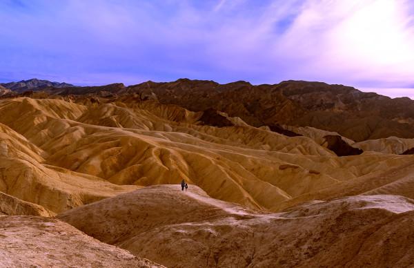 20 Mule Team Canyon, Near Sunset by Rodney Buxton