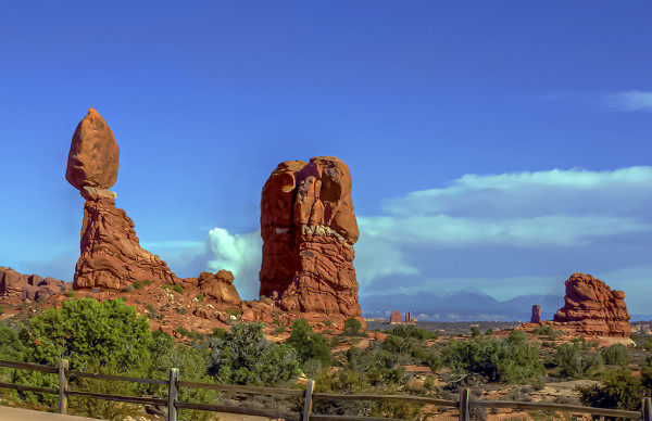 Balanced Rock, the Golden Hour before Sunset by Rodney Buxton
