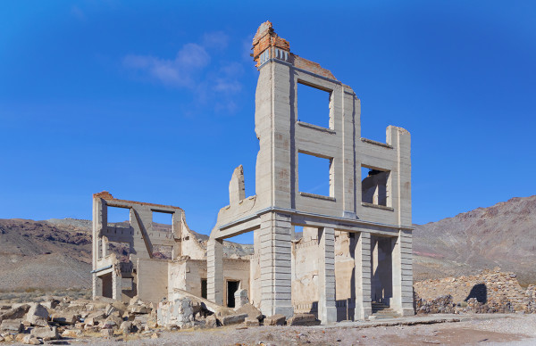 Cook Bank Ruin, Rhyolite Ghost Town, Late Morning by Rodney Buxton