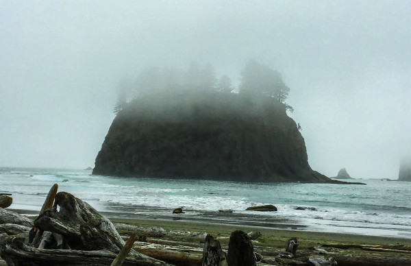 Crying Lady Rock, Afternoon Fog by Rodney Buxton