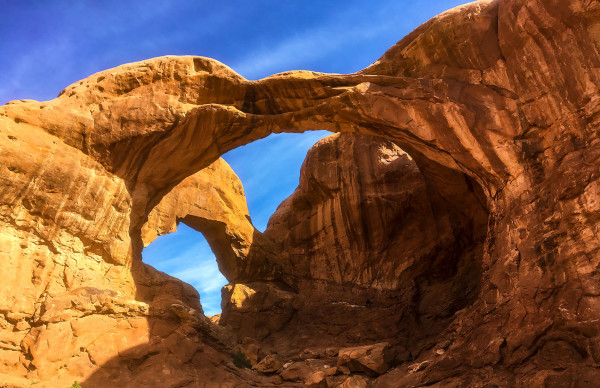 Double Arch, Mid-Morning by Rodney Buxton