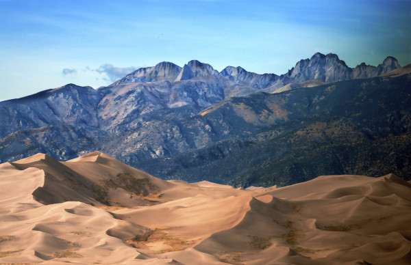 Star Dune and Crestone Peak, Late Afternoon by Rodney Buxton