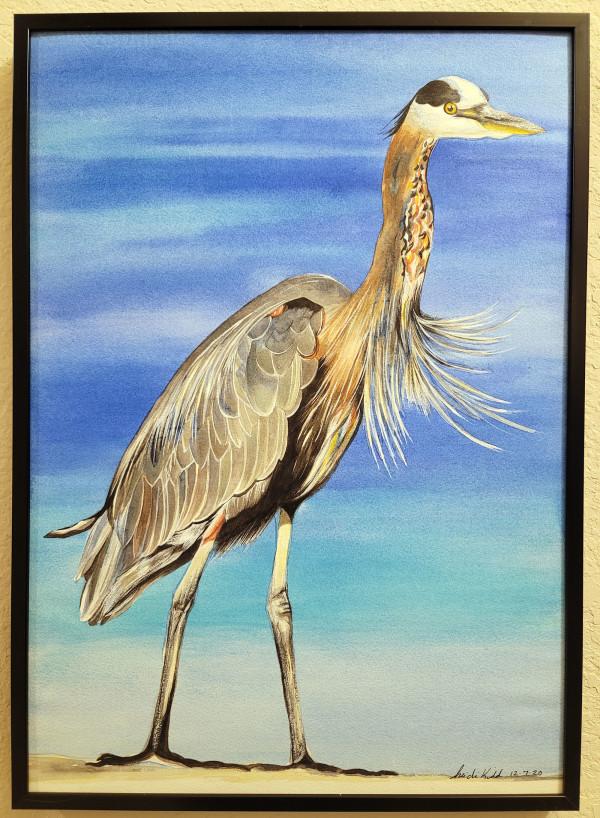 Great Blue Heron Two by HEIDI KIDD