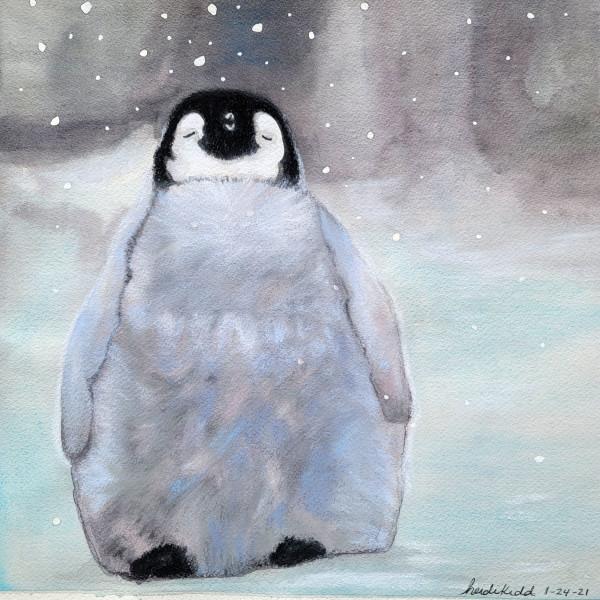 Grace Emperor Penguin Chick by HEIDI KIDD