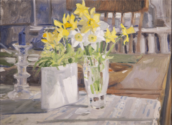 Narcissus Still Life (Daffodils) by Richard Crozier
