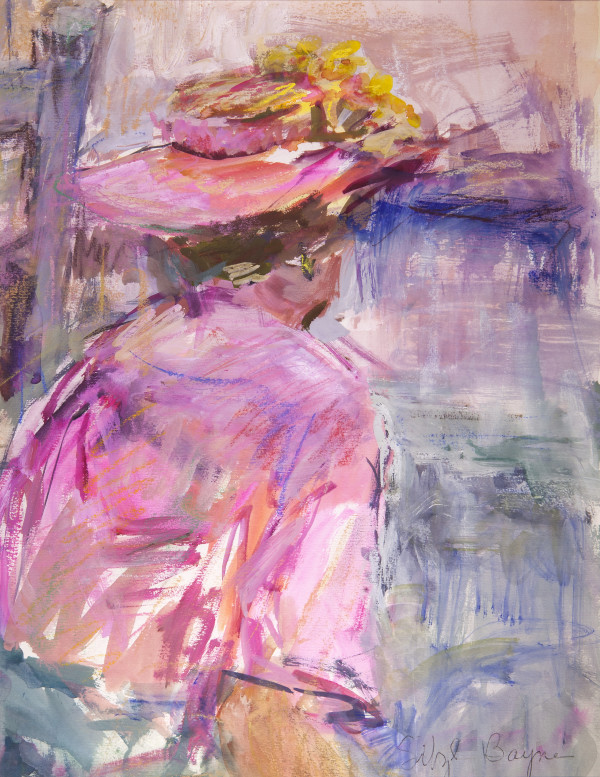 Waiting- Lady in Pink by Sibyl Bayne