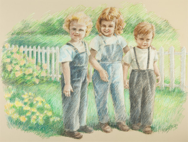 Three Children by Martha Dick