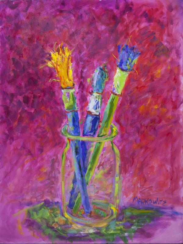 Painter's Brushes by Kathleen Markowitz