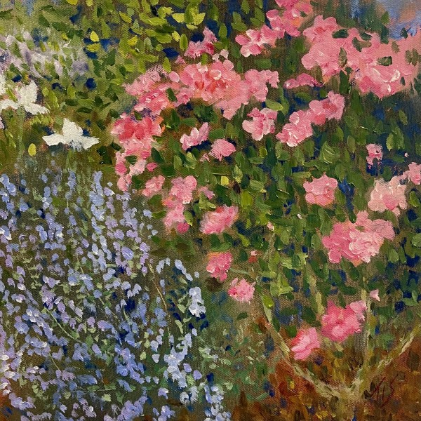 Roses and Catmint by Thomas Stevens
