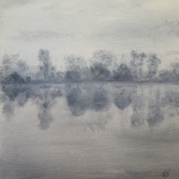 Dawn, Lake Orange (study)   36.1542N 79.1493W