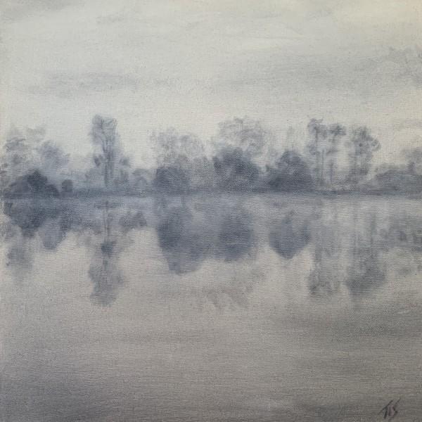 Dawn, Lake Orange (study)   36.1542N 79.1493W by Thomas Stevens