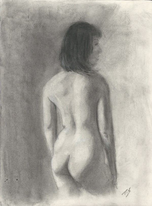 Nude (study) by Thomas Stevens
