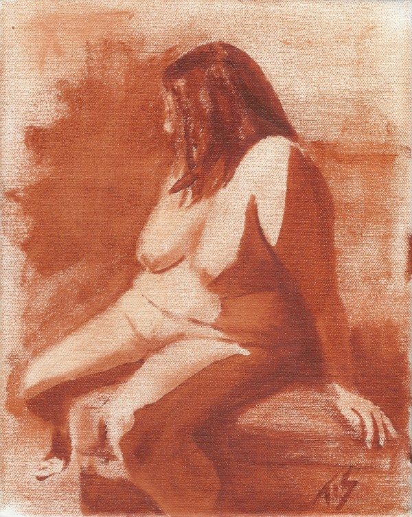 Nude (monochrome) by Thomas Stevens
