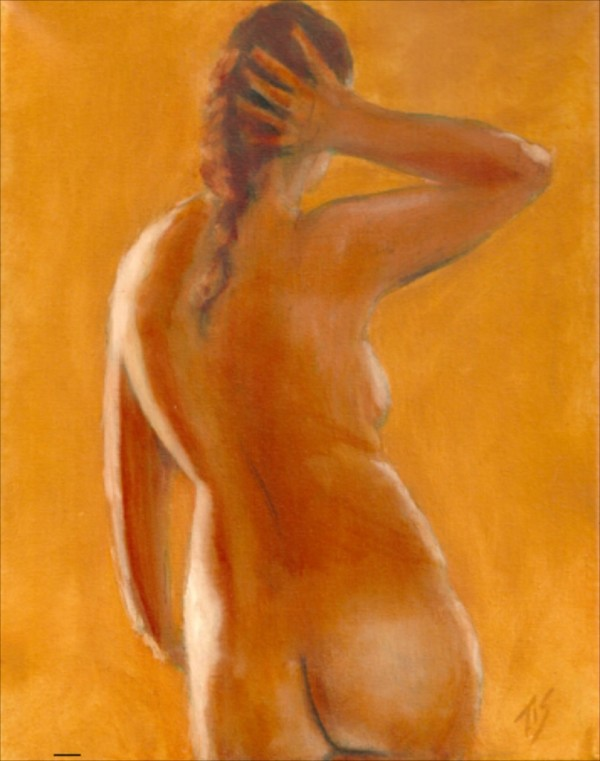 Nude Study (Gold) by Thomas Stevens