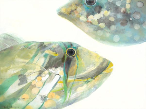 鱼卷《胡姆和河豚》(Humu & Puffer),克里斯蒂·藤山·科斯米德斯(Kristie Fujiyama Kosmides)设计,36x48