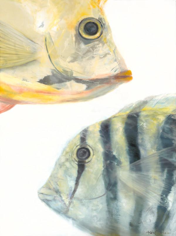 "Fish系列的""Manini & Tang""系列由克里斯蒂·藤山·科斯米德斯(Kristie Fujiyama Kosmides)设计,尺寸为36x48"