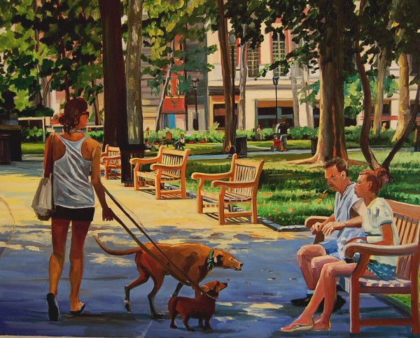 Dogs in the Park by Elaine Lisle