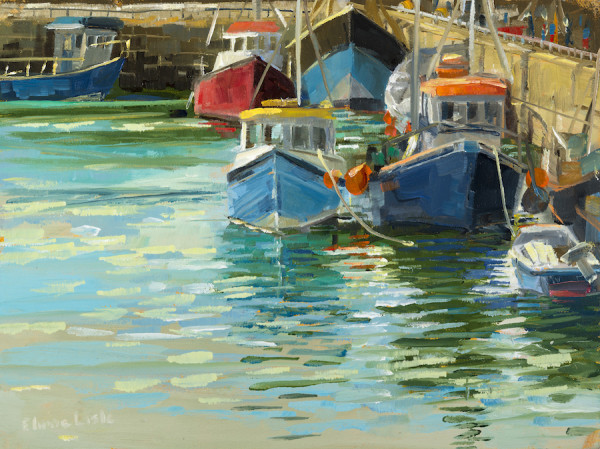 Boats in the Corner Kilmore Quay by Elaine Lisle