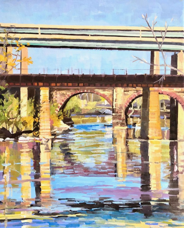 Bridges on the schuylkill by Elaine Lisle