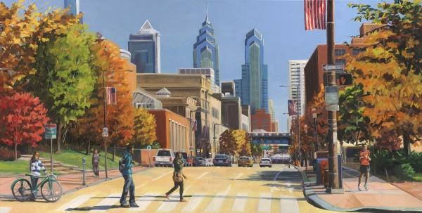 Crossing Chestnut Street by Elaine Lisle