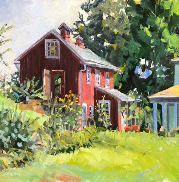 Red Barn in the Morning by Elaine Lisle