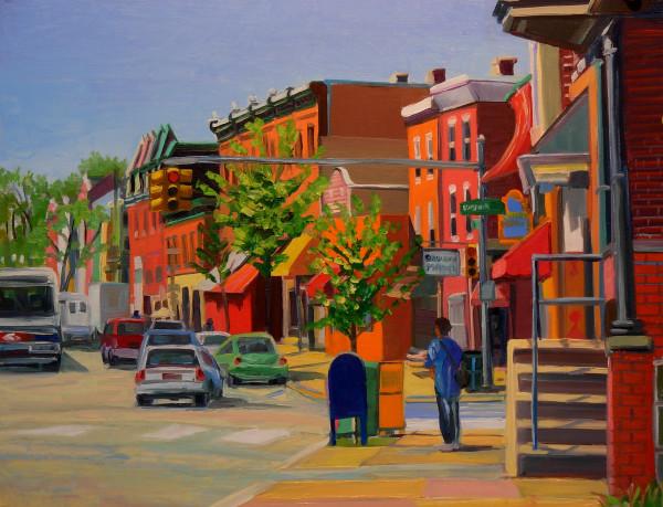 East Falls Street Corner by Elaine Lisle