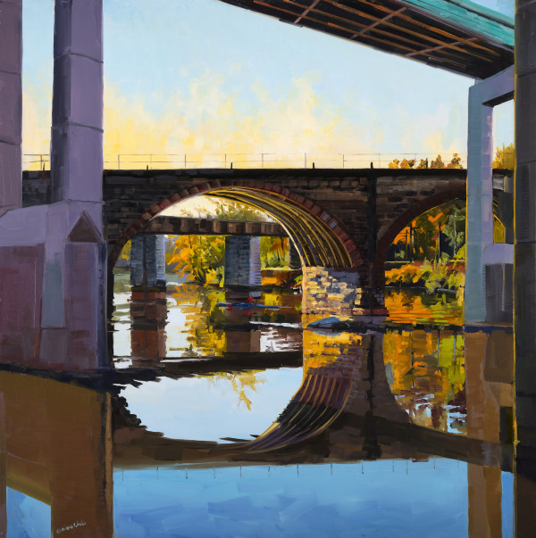 Fall Light Three Bridges by Elaine Lisle