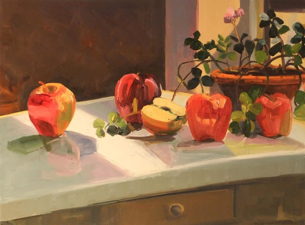 Apples with Plant by Elaine Lisle