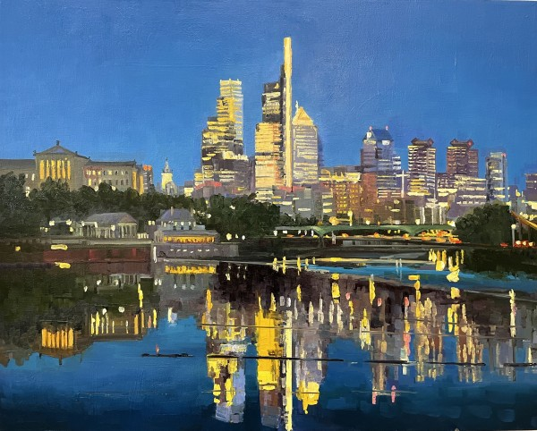 philly night reflections by Elaine Lisle