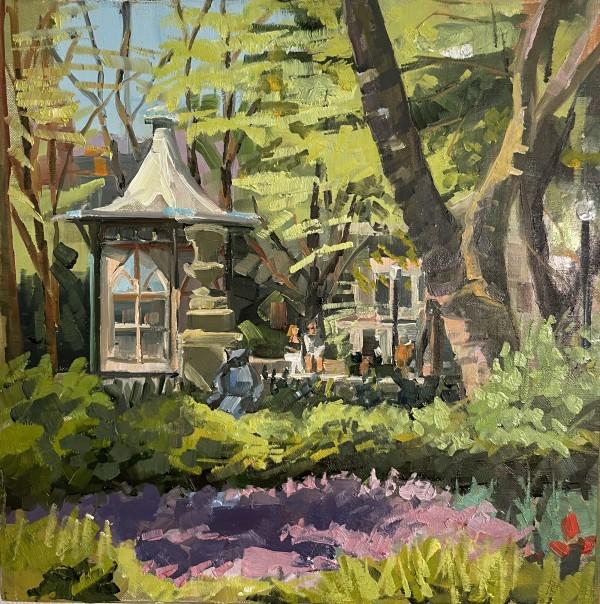 Purple phlox at Rittenhouse by Elaine Lisle
