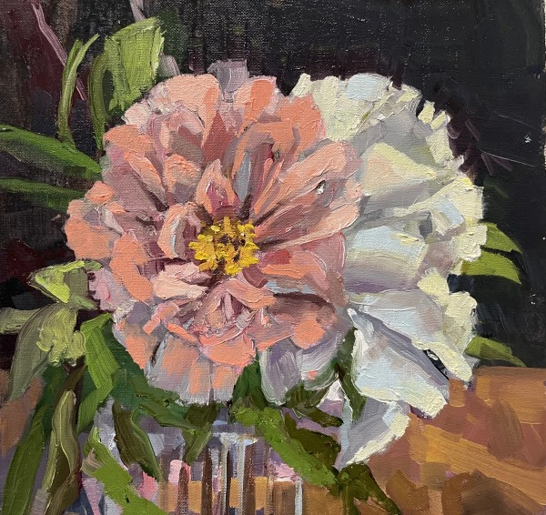 Peonies in glass by Elaine Lisle