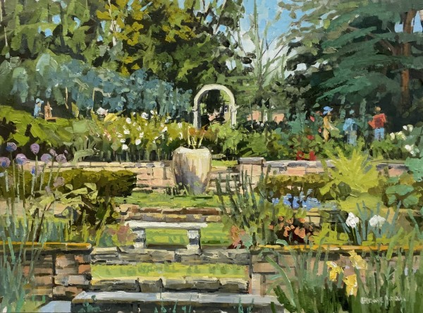 Working in the Garden by Elaine Lisle