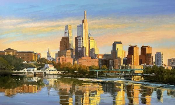 Light on the City at Dusk by Elaine Lisle