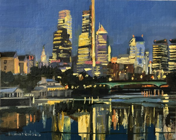Philadelphia Lights by Elaine Lisle