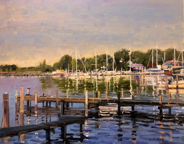 Moored for the Night by Elaine Lisle